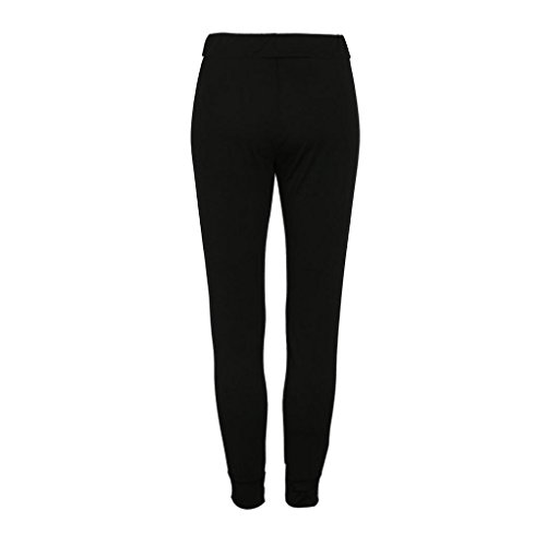 Donne Pantaloni Coulisse righe Trouser gamba Sports Nero Bowtie larghi Jeans nbsp; Ladies Culater casual a dva4x5wqdS