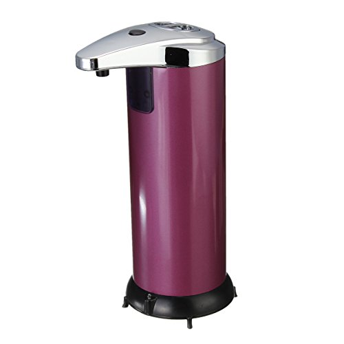 LEXPON Stainless Steel Automatic Soap Dispenser Infrared Control (Purple) ()