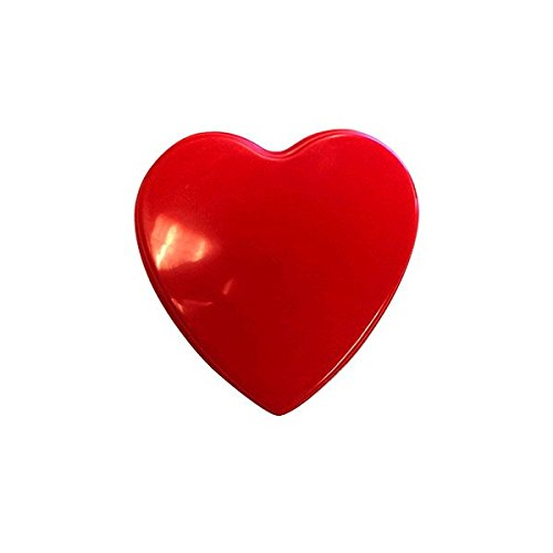 Radiant Valentine's Day Party Heart Shaped Box , Red, Plastic , 7 3/4
