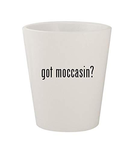 (got moccasin? - Ceramic White 1.5oz Shot Glass)