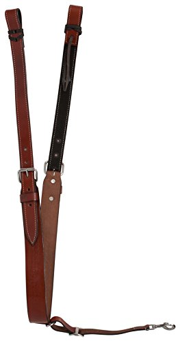 Flank Cinch Set (PREMIUM MEDIUM OIL WESTERN HORSE SADDLE BUCKING STRAP REAR GIRTH FLANK STRAP BACK CINCH WITH BILLETS INCLUDED (Horse))