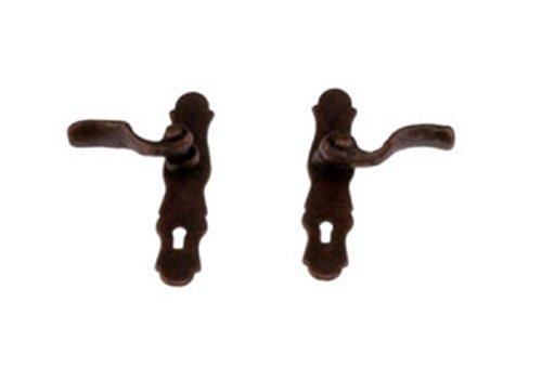 - Miniature French Lever Style Door Knob or Door Handle in Bronze Finish