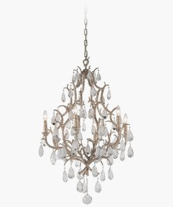 Lighting Corbett Bronze (Amadeus Chandelier - 6 Light - Vienna Bronze Finish with Italian Drops)
