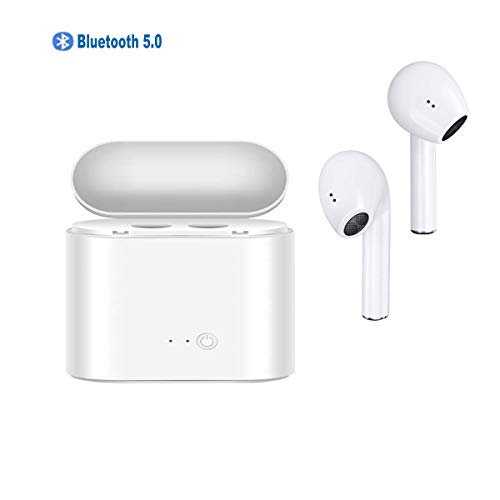 Bluetooth Earphone Stereo in-Ear Headphones with 5.0 Wireless Built-in Microphone headsets and Charging case