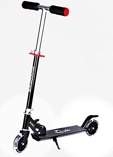 Patinete Aroldis Kick para niños de 4 a 10 años, altura del manillar ajustable, patinete con ruedas iluminadas para niños y niñas.