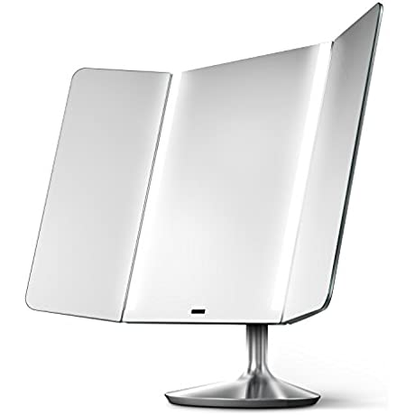 Simplehuman Sensor Mirror Pro Wide View Lighted Vanity Mirror 1x Magnification Adjustable Color Temperature Wifi Enabled
