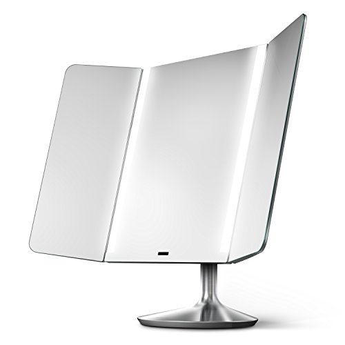 simplehuman-sensor-mirror-pro-wide-view-lighted-vanity-mirror-1x-magnification-adjustable-color-temp