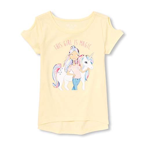 - The Children's Place Girls' Big Short Sleeve Graphic T-Shirt, English Daisy, M (7/8)