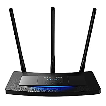 ZCL TP-LINK TL-wr2041 través de la pared de pantalla táctil wifi 450m 3 antenas turbo router inalámbrico llave (retícula de 2 m) , Blanco: Amazon.es: ...