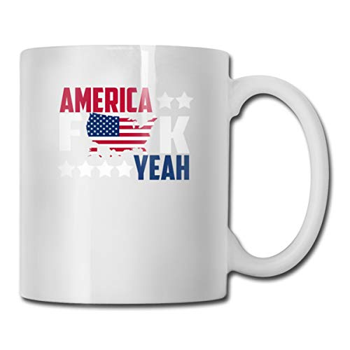 Riokk Az American Flag F-Map-K 11oz Coffee Mugs Funny Cup Tea Cup Birthday Ceramic ()