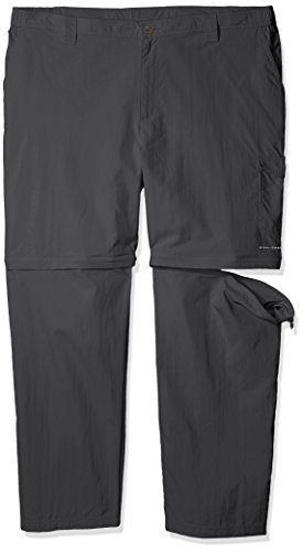 Columbia Men's PFG Blood and Guts III Convertible Pant - Big , Grill, 54x32