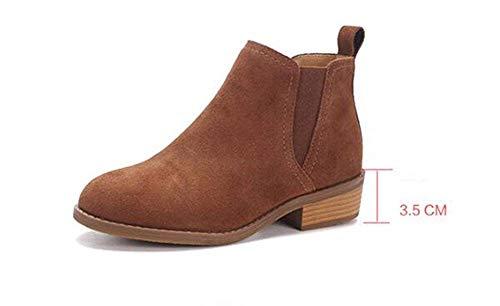 Leisure 's Eu Boots Shoes Sed Warm Donna Student Da Scrub Daily Scarpe Pu 35 twvfB