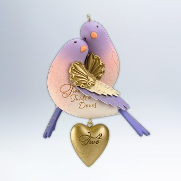 Hallmark 2012 Keepsake Ornaments QX 8091 Two Turtle Doves...