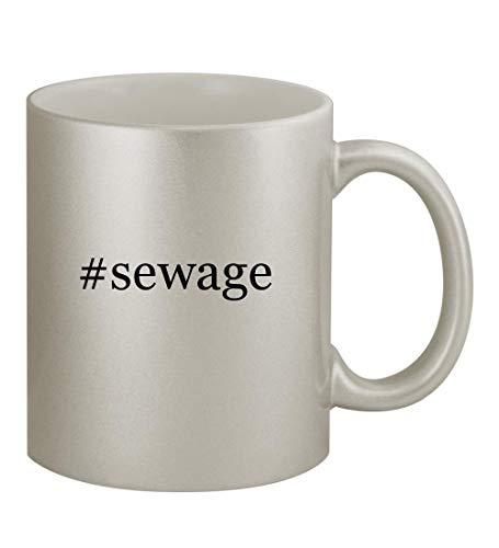 Price comparison product image #sewage - 11oz Hashtag Silver Sturdy Ceramic Coffee Cup Mug