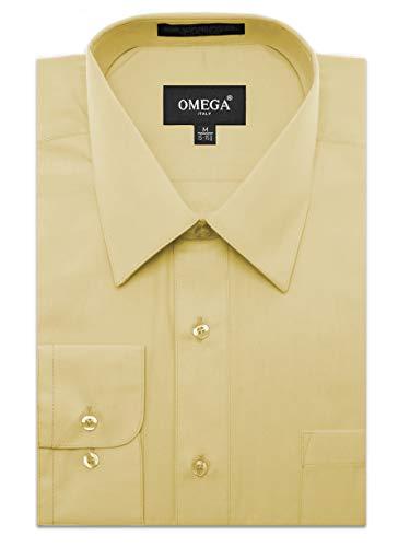 (Mens Regular Fit Dress Shirt w/Reversible Cuff S 14-14.5N-30/31S Ivory Shirts)