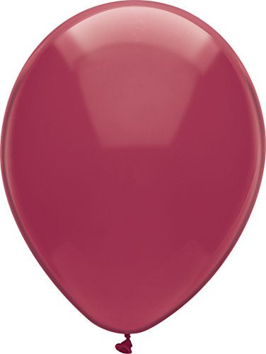 PartyMate 72131 Made in the USA Royal Rich Color 12-Inch Latex Balloons, 15-Count, Deep Burgundy