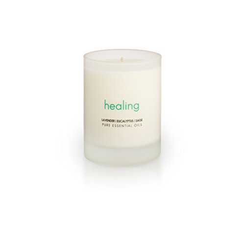 The Pure Candle Healthy Vegan Candle Aromatherapy Soy Candle - HEALING Soy Candle, Scented Candle with Lavender, Eucalyptus, Sage Pure Essential Oils Candle, Made in USA, Vegan