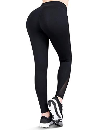 Franterd Womens Bubble Hip Butt Lifting Anti Cellulite Legging High Waist Workout Tummy Control Yoga Tights