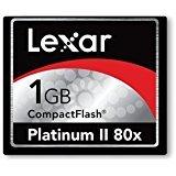 Lexar 1 GB Platinum II 80x Compact Flash CF Card