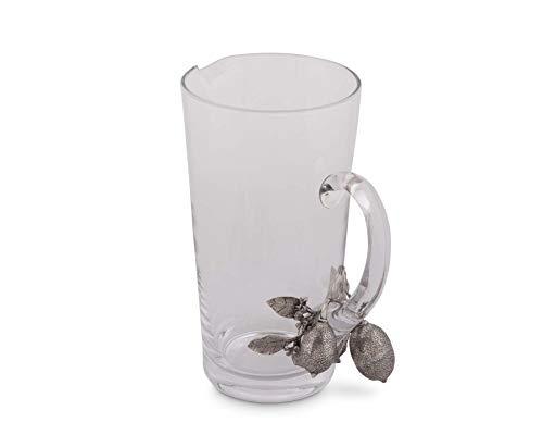 Lemon Bouquet - Vagabond House Glass and Pewter Lemon Bouquet Pitcher 9.5