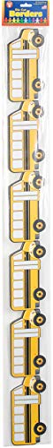 Hygloss Products, Inc 33660 Hygloss Products School Bus Die-Cut Bulletin Board Border - Classroom Decoration - 3 x 36 Inch, 12 Pack ()