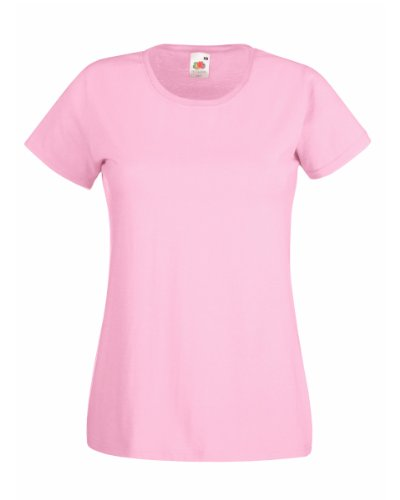FOTL Lady Fit Valueweight T Shirt Colour=Light Pink Größe=L