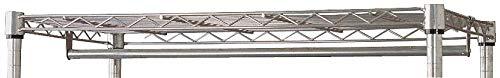 Silver Shelf Hanger/Rail Rod, Stainless Steel, Natural Finish, 1 EA