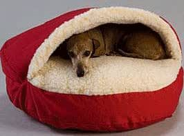 Amazon.com : Small Snoozer® Red Poly Cotton/Sherpa Cozy