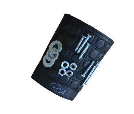Magnetic Armband is made with 25 powerful magnets and stretchable material to hold small fasteners and tools on your forearm or bicep. The perfect gift for men, fathers, husbands and craftsmen. (Stretchable Material)