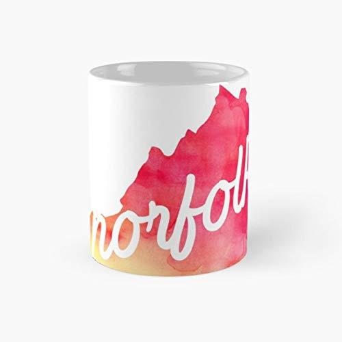 Norfolk Mug, virginia Cup, 11 Ounce Ceramic Mug, Perfect Novelty Gift Mug, Funny Gift Mugs, Funny Coffee Mug 11oz, Tea Cups -