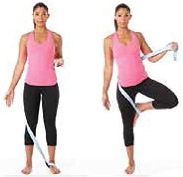 Tiiyar 10 feet//8 feet//6 feet Cotton Yoga Belt for Stretching Flexibility Cotton Yoga Strap Fitness Physical Therapy