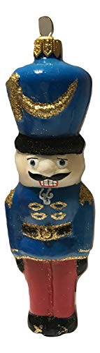 Impuls Nutcracker Blue Soldier Polish Glass Handcrafted Holiday Ornament