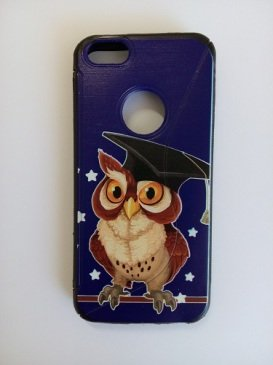 Cover Custodia Case Silicone Gomma Tpu Per Iphone 5 5S Halloween Gufo Owl