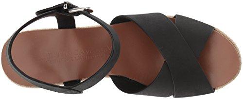 Women's Espadrille Leather Laundry Black Cavallari Wedge Mikah Kristin Chinese Sandal xzXq4anXt