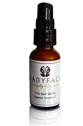Babyface Super Strength 15% MAP Vitamin C Serum Lightening Brightening Even Works On Sensitive Skin 1 oz