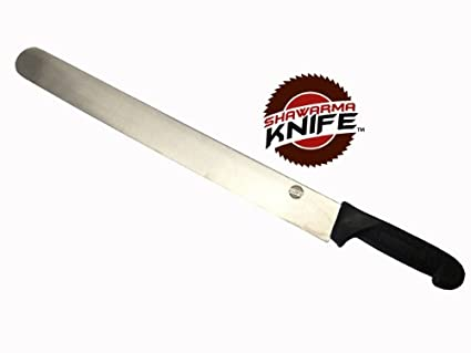 Shawarma Knife Stainless Steel Gyro Knife (19 inch, Multicolour)