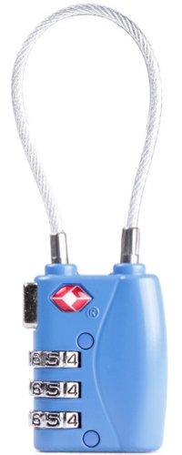 Jasit Mini TSA Approved 3 Digits Metal Combination Luggage Lock Coded Padlock (blue)
