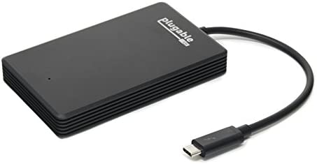 Plugable 480GB Thunderbolt 3 External NVMe SSD Compatible with MacBook Pro 2018/2017 / Late 2016 and Thunderbolt 3 Windows Systems (Up to 2400MB/s+ Read, 1200MB/s+ Write)