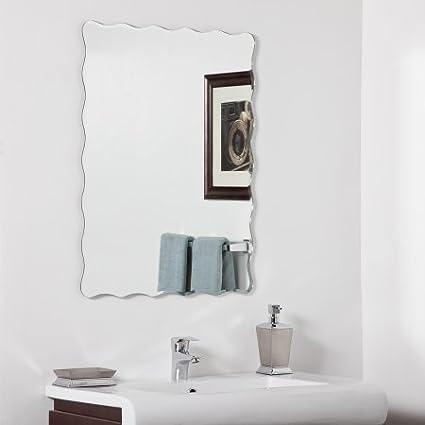 Quality Glass Frameless Decorative Mirror | Mirror Glass for Wall | Mirror for bathrooms | Mirror in Home | Mirror Decor | Mirror Size : 18 inch x 24(QG-FL-018)