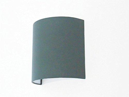 Applique murale demi cylindre Luminaire gris anthracite 1/2 lune choix couleur personnalisée idée cadeau anniversaire hygge zen scandinave décoration abat-jour - taille personnalisée