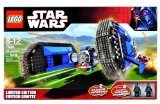 Lego Year 2007 Limited Edition Star Wars Series Vehicle Set #7664 - Tie Crawler with 2 Exclusive Shadow Trooper Minifigures (548 Pieces)