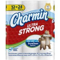 Price comparison product image Charmin Ultra Strong Toilet Paper 12 Double Rolls = 24 Regular Rolls