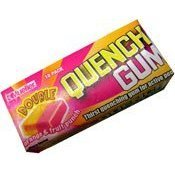Quench Gum, 10-Stick Single Pack, Double Raspberry Flavor