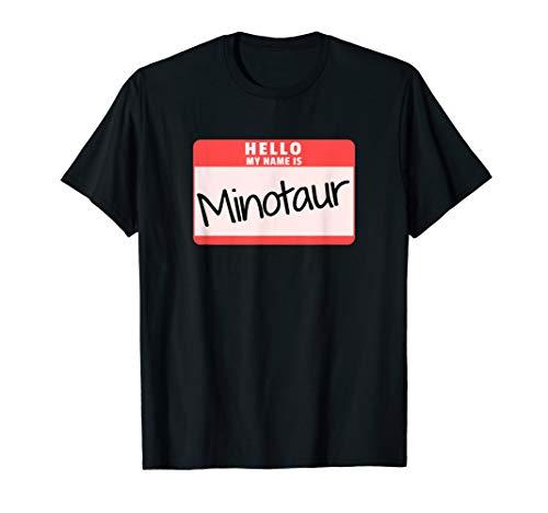 Hello My Name is Minotaur Halloween Monster Costume T-Shirt]()