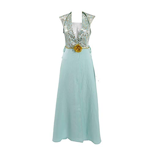 TISEA Women's Daenerys Targaryen Arya Stark Margaery Tyrell Cosplay Costume Long Dress Uniform (M, Style -