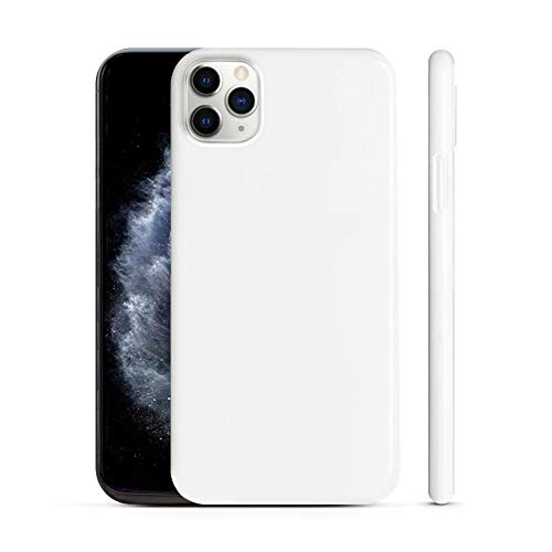 PEEL Ultra Thin iPhone 11 Pro Max Case, Jet White - Minimalist Design   Branding Free   Protects and Showcases Your Apple iPhone 11 Pro Max