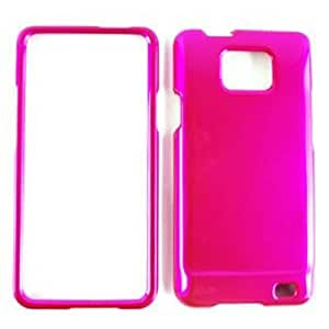 Samsung Attain Galaxy S 2 i777 Honey Hot Pink Snap On Cover, Hard Plastic Case, Face cover, Protector