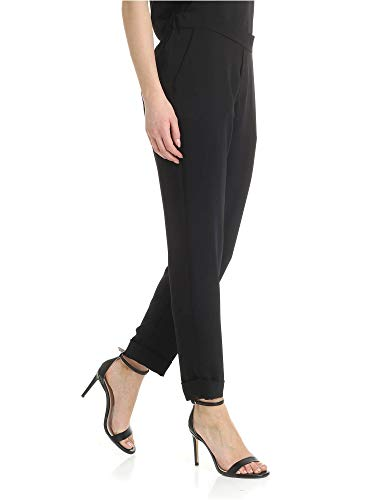 o a r P Poliéster D230162x013 Pantalón h s Mujer Negro wSEfrSqCW