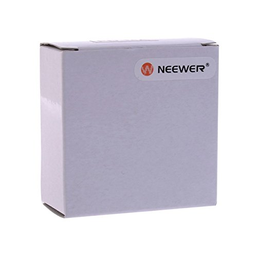 neewer black metal lens mount adapter with optical glass