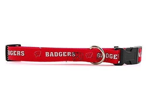 Hunter NCAA Wisconsin Badgers Cardinal Pet Collar (Large)